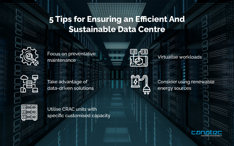 Tips for ensuring an efficient and sustainable data centre